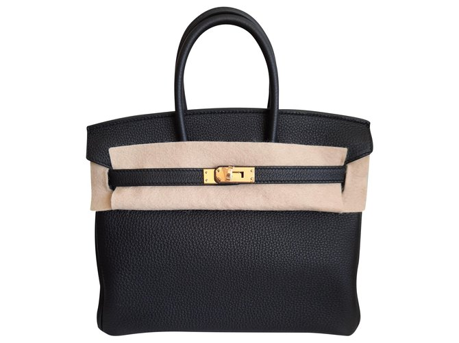 Hermès Birkin 25 Cuir Noir  ref.270375