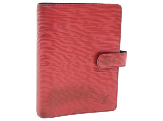 Louis Vuitton LOUIS VUITTON Epi Agenda MM Day Planner Cover Red R20047 LV Auth 16701 Purses, wallets, cases Leather Red ref.270975