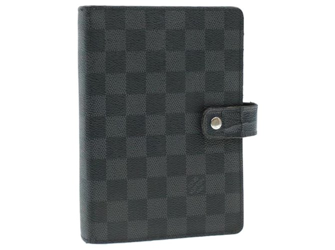 Louis Vuitton LOUIS VUITTON Damier Graphite Agenda MM Day Planner Cover R20242 Auth yk212 Purses, wallets, cases Cloth Other ref.271431