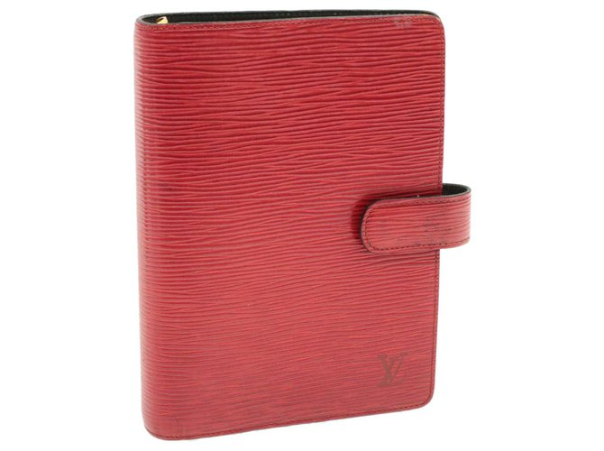 Louis Vuitton LOUIS VUITTON Epi Agenda MM Day Planner Cover Red R20047 LV Auth yk303 Purses, wallets, cases Leather Red ref.271438