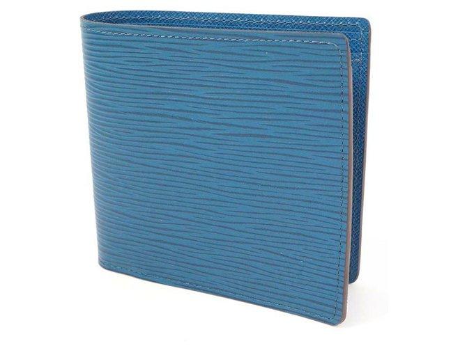 Louis Vuitton Louis Vuitton portofeuilles MarcoNM unisex Folded wallet blue Purses, wallets, cases Leather Blue ref.271949