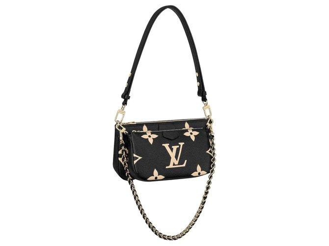 Louis Vuitton LV multipochette leather Black  ref.272329