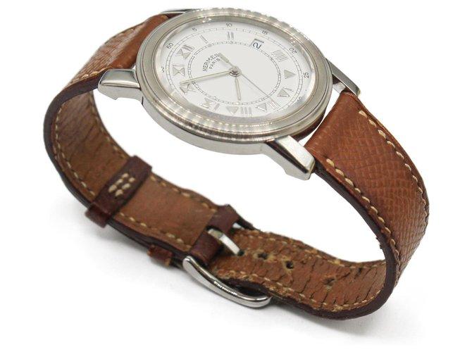 Hermès Fine watches Brown Leather  ref.272607