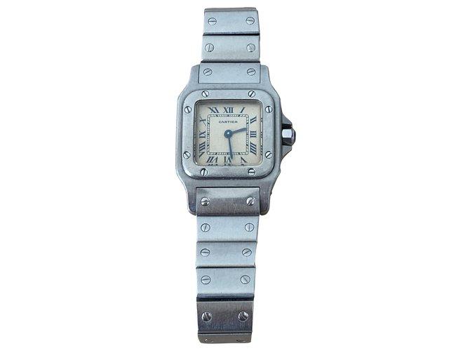 Cartier Cartier Santos PM watch in Steel Fine watches Steel Silvery ref.273505
