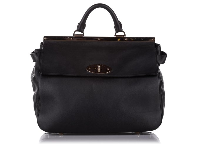 Mulberry Mulberry Black Suffolk Leather Satchel Handbags Leather,Pony-style calfskin Black ref.273727