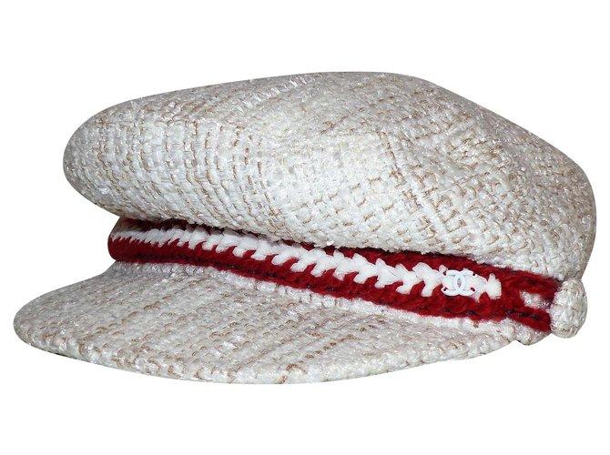 Chanel Hats Hats Tweed White ref.273862