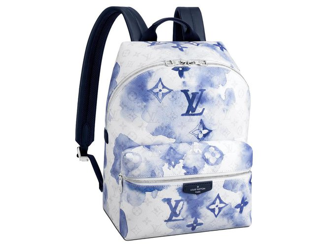 Louis Vuitton LV backpack discovery watercolor Bags Briefcases Other Blue ref.274552