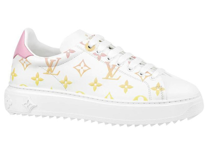 Louis Vuitton LV Time Out trainers Sneakers Leather White ref.275001