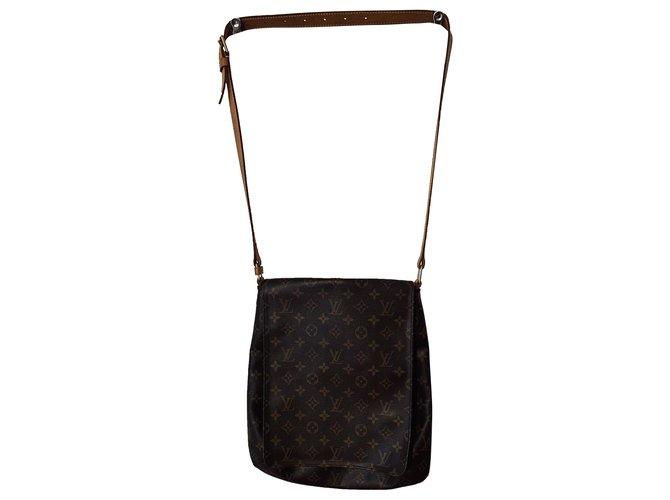 Louis Louise Handbags Brown Beige Gold hardware Leather  ref.275167