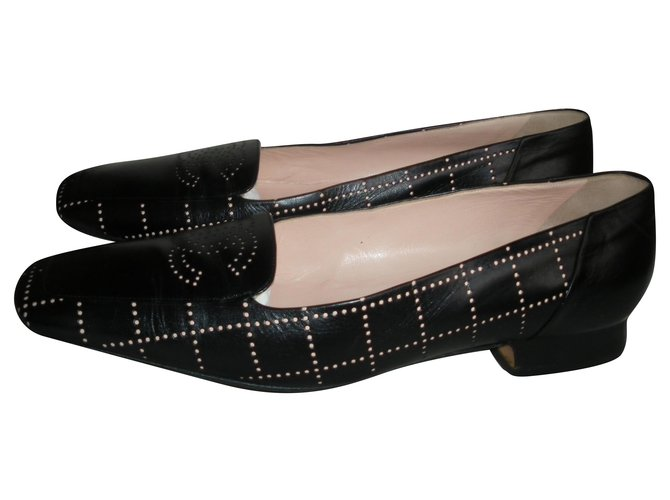 Chanel Flats Flats Leather Black ref.275238
