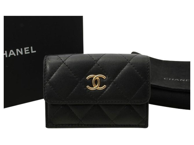 Chanel Chanel Timeless Wallets Leather Black ref.275543