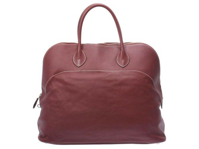 Hermès Hermes Bolide Handbags Pony-style calfskin Red ref.275586