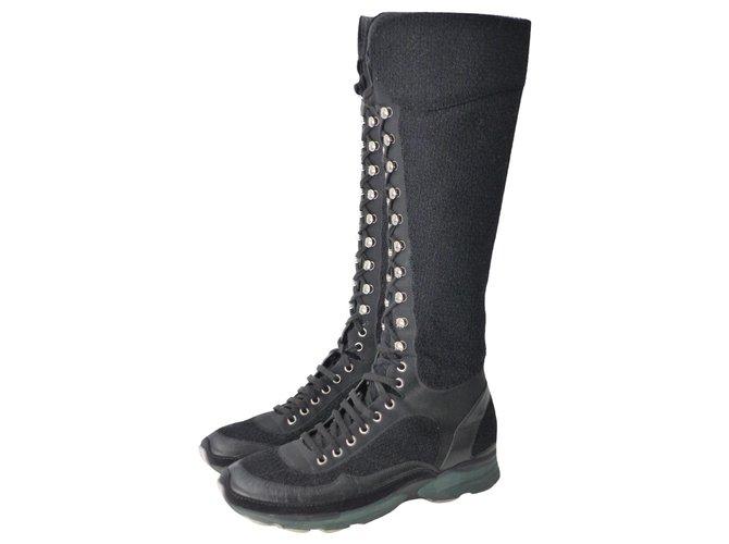 Chanel Sneakers Sneakers Tweed Black ref.276039