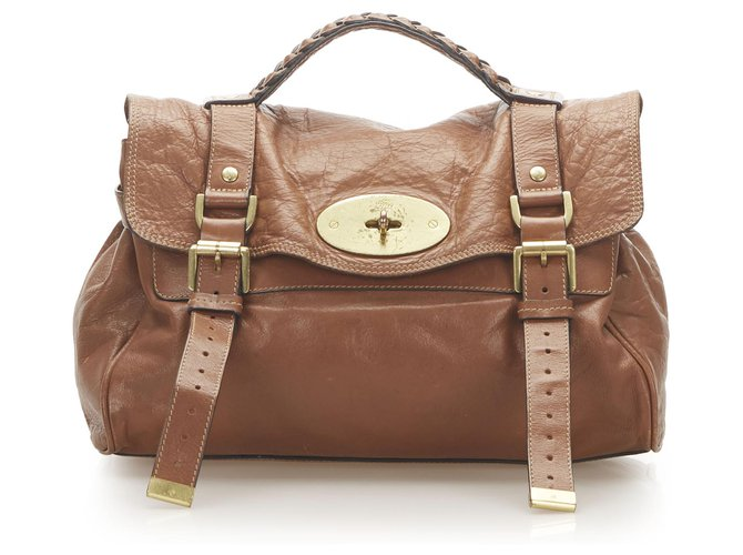 Mulberry Mulberry Brown Alexa Leather Satchel Handbags Leather,Pony-style calfskin Brown ref.276955