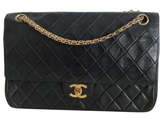 Chanel Classic Flap Black Leather  ref.277046
