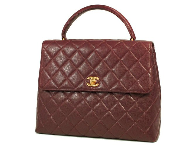 Chanel CHANEL Kelly type matelasse Womens handbag Bordeaux x gold hardware Handbags Other Other,Gold hardware ref.277090