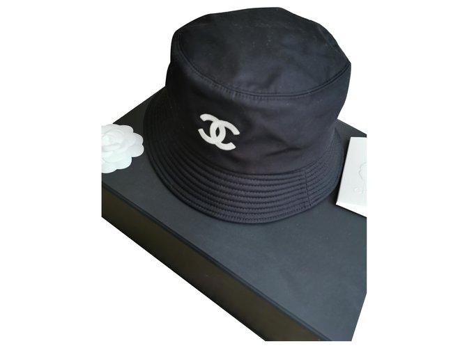 Chanel Bob Hats Cotton Black ref.277095