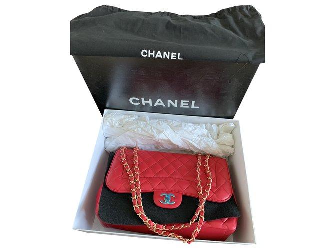 Chanel Jumbo Classic Chanel Handbags Lambskin Pink ref.277101