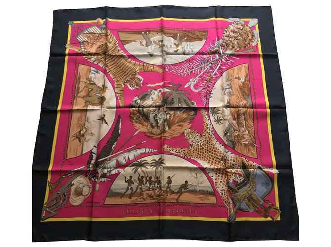 Hermès Hermès square exotic hunts with box Silk scarves Silk Other ref.277127