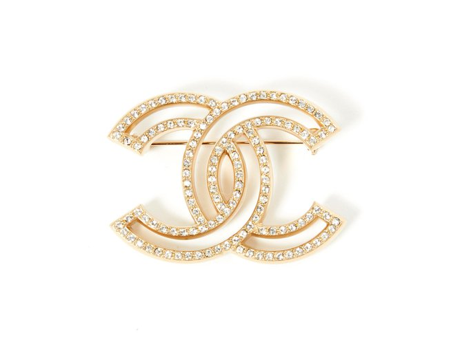 Chanel Pins & brooches Pins & brooches Metal Golden ref.277449