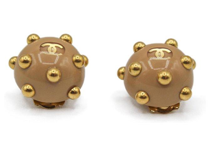 Chanel Earrings Earrings Plastic Beige ref.277527
