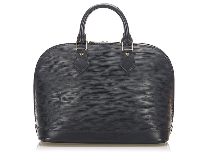 Louis Vuitton Louis Vuitton Black Epi Alma PM Handbags Leather Black ref.278091