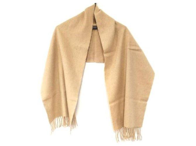 Hermès Hermès scarf Silk scarves Wool Beige ref.279001