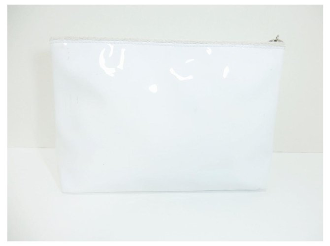 Chanel Chanel clutch bag Clutch bags Synthetic White ref.279171
