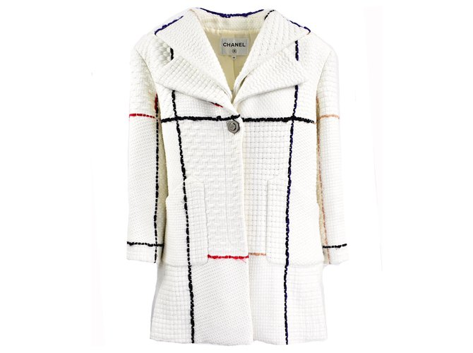 Chanel Jackets Jackets Wool Cream ref.279359