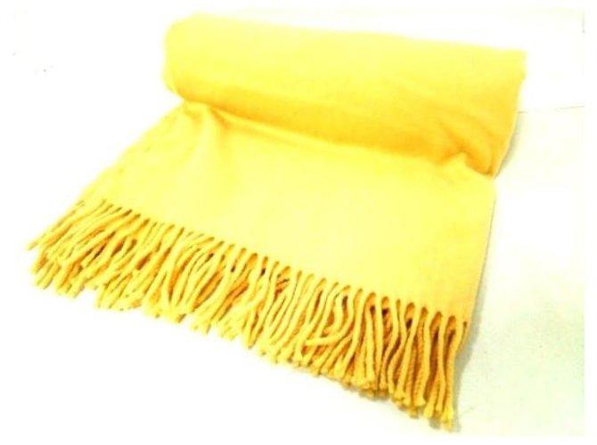 Hermès scarf Yellow Wool  ref.279968