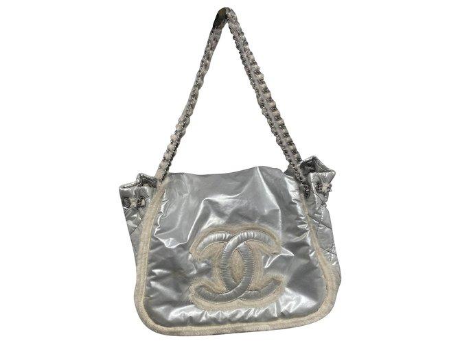 Chanel Handbags Handbags Polyester Grey ref.280664