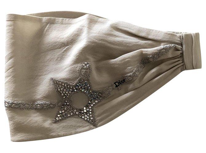 Bijoux de tête Dior Accessoires pour cheveux Soie Écru ref.280883