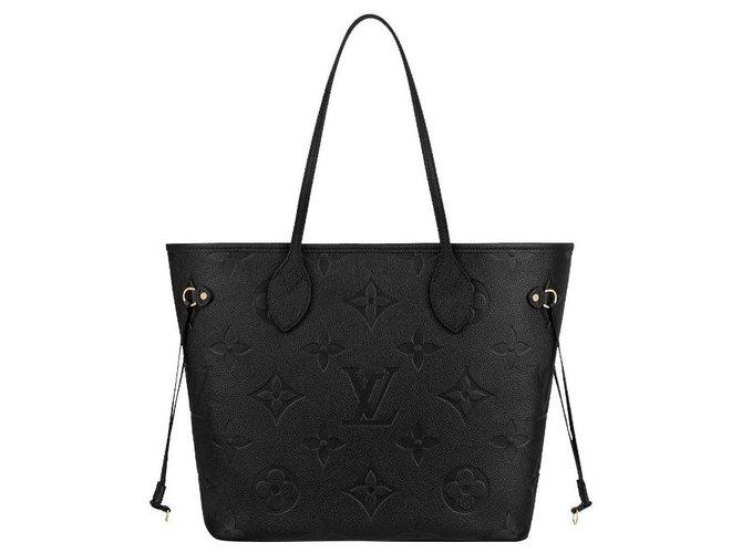 Louis Vuitton LV Neverfull empreinte black Leather  ref.281109