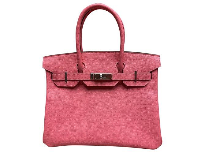 Hermès Birkin 30 Handbags Leather Pink ref.281115