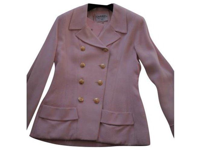 Chanel Jackets Jackets Silk Pink ref.281129