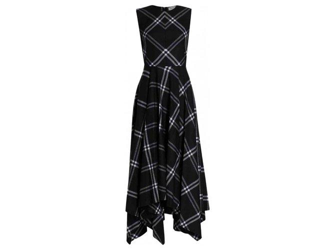 Alexander Mcqueen Dresses Black Cashmere Wool  ref.281166