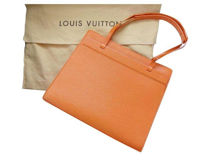 Louis Vuitton Louis Vuitton Orange Epi Leather Croisette PM bag Handbags Leather Orange ref.281193