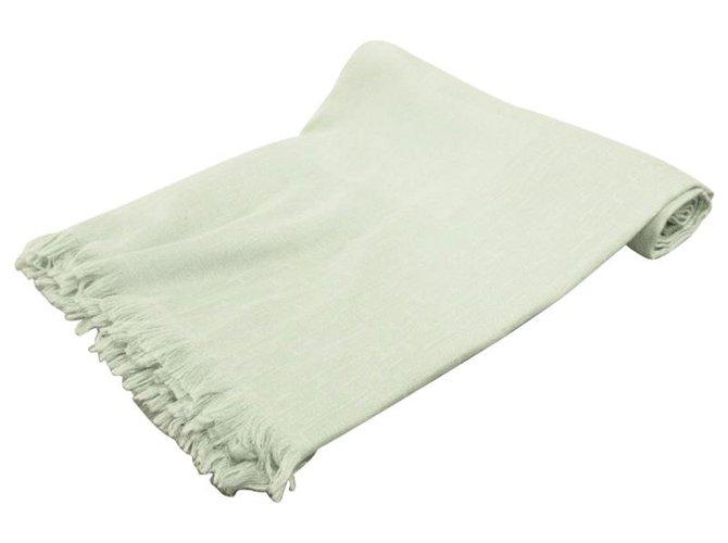 Hermès Hermès scarf Silk scarves Wool Green ref.282156