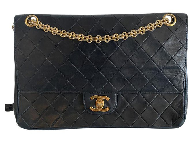 Chanel Classic Flap Black Leather  ref.282525