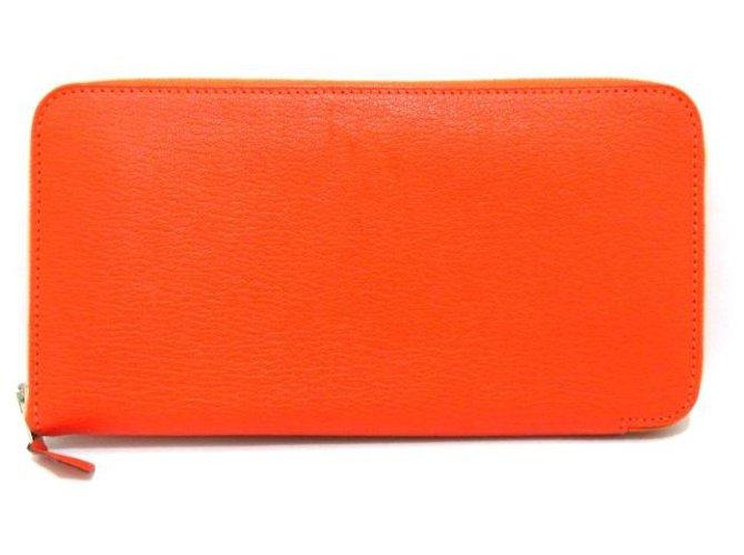 Hermès Hermès Azap Purses, wallets, cases Leather Orange ref.283066