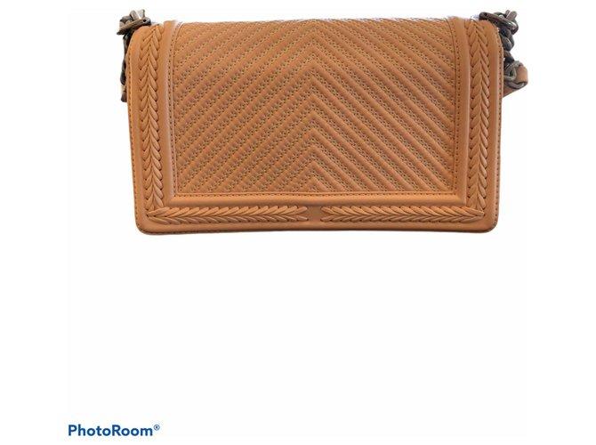 Chanel Handbags Handbags Leather Peach ref.284120