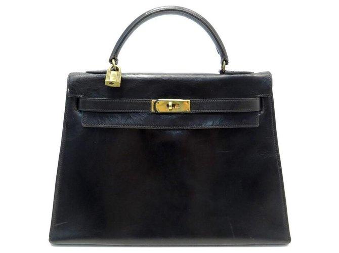 Hermès Kelly 32 Black Leather  ref.284378