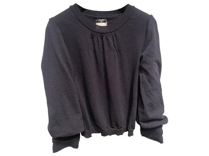 Chanel Knitwear Knitwear Wool Navy blue ref.284337