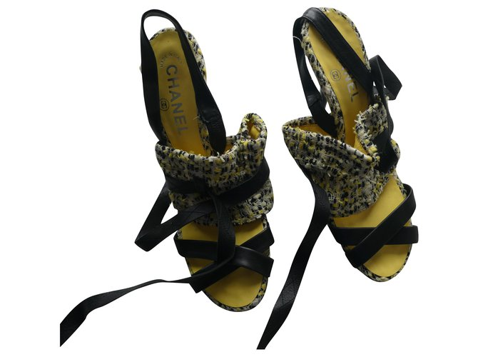 Chanel chanel shoe size 38 in tweed and high heels new box Heels Other Other ref.284758