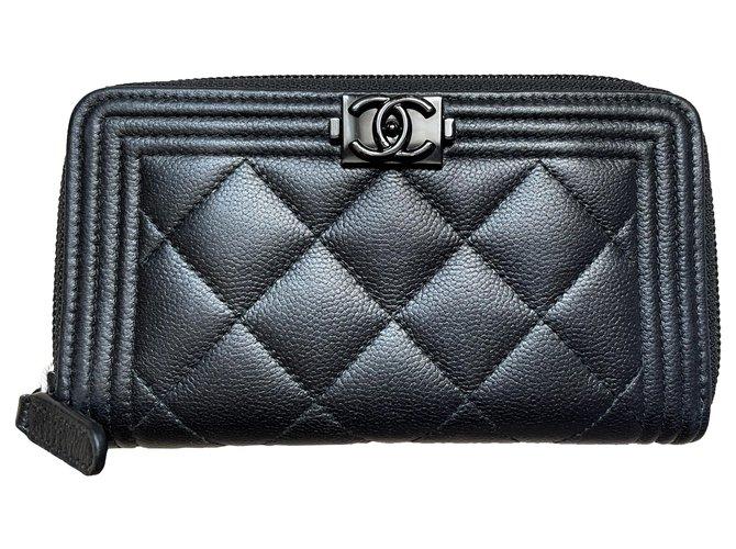 Chanel Chanel Boy wallet black Wallets Leather Black ref.285021