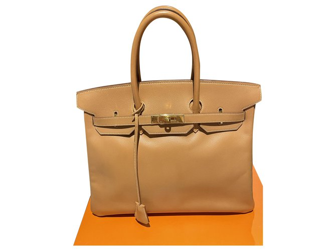 Hermès Birkin 35 Light brown Gold-plated  ref.285079
