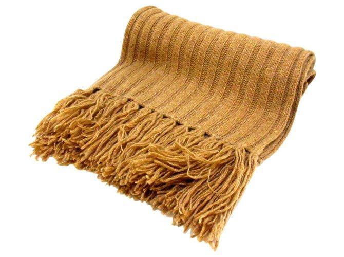 Hermès scarf Brown Wool  ref.285322