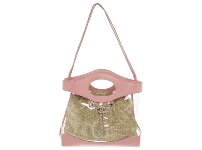 Coco rain Chanel Handbags Pink Leather Plastic  ref.286104