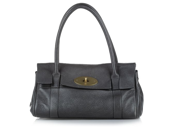 Mulberry Mulberry Black Bayswater Leather Shoulder Bag Handbags Leather,Pony-style calfskin Black ref.286401
