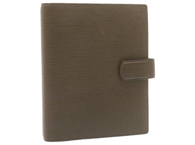 Louis Vuitton Louis Vuitton Agenda Cover Purses, wallets, cases Leather Brown ref.286661